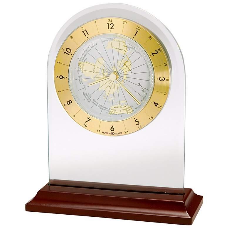 "Howard Miller World Time Arch 6 3/4"" High Alarm Clock"