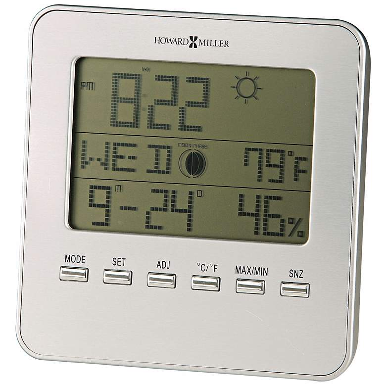 "Howard Miller Weather View 5"" High Alarm Clock"
