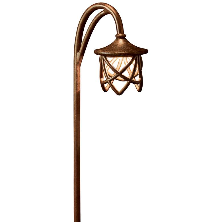 "Kichler Cathedral 27""H Tannery Bronze Landscape Path Light"