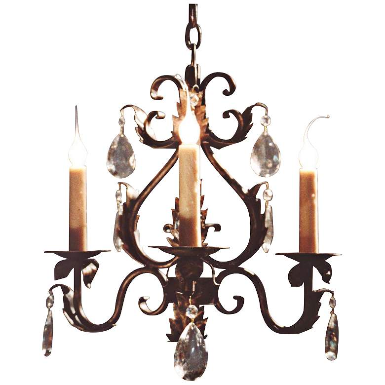 """Laura Lee Michelle 3-Light 20"""" Wide Small Crystal Chandelier"""