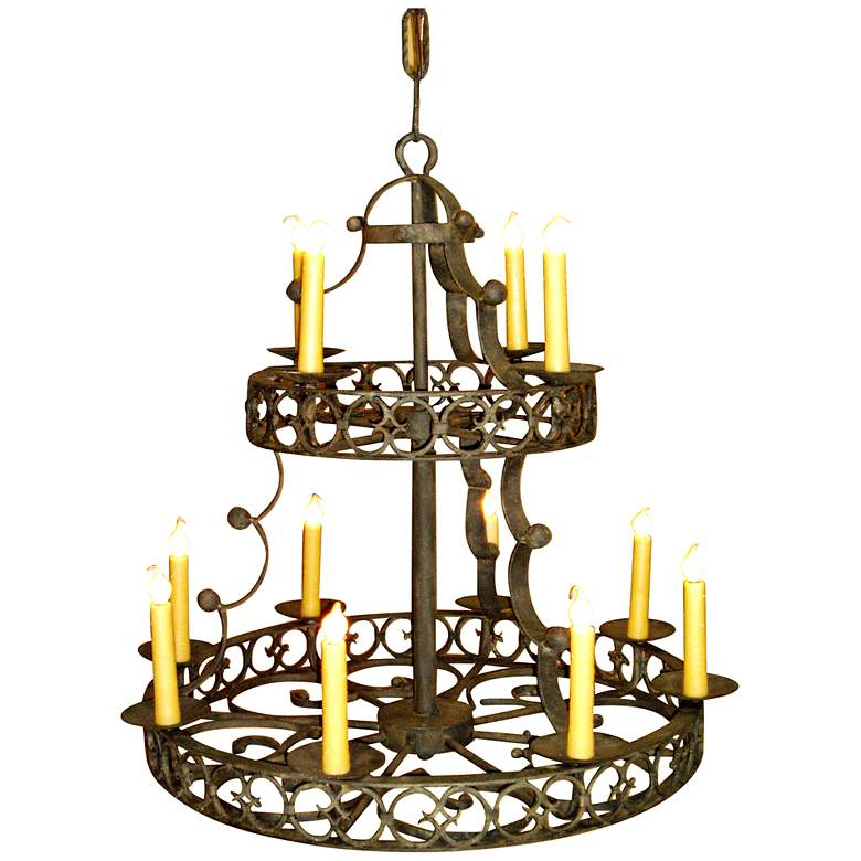 """Laura Lee Cordoba 12-Light 33"""" Wide Large Candle Chandelier"""