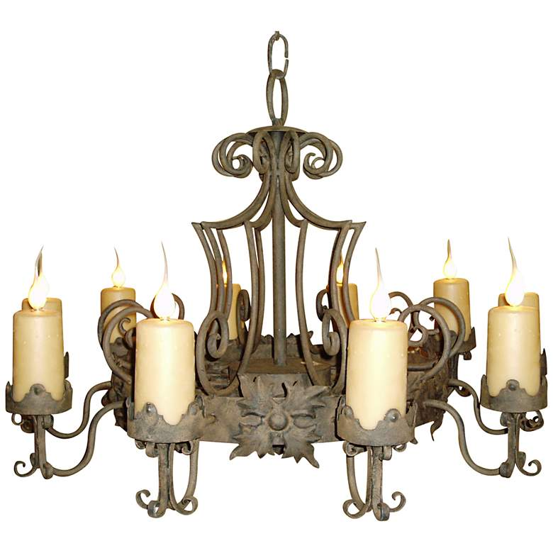 "Laura Lee Madrid 9-Light Large 48"" Wide Candle Chandelier"