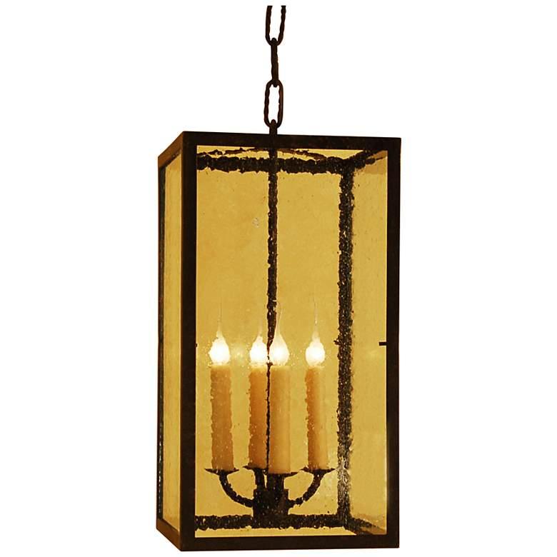 "Laura Lee Monterey 12"" Wide Lantern 4-Light Foyer Chandelier"