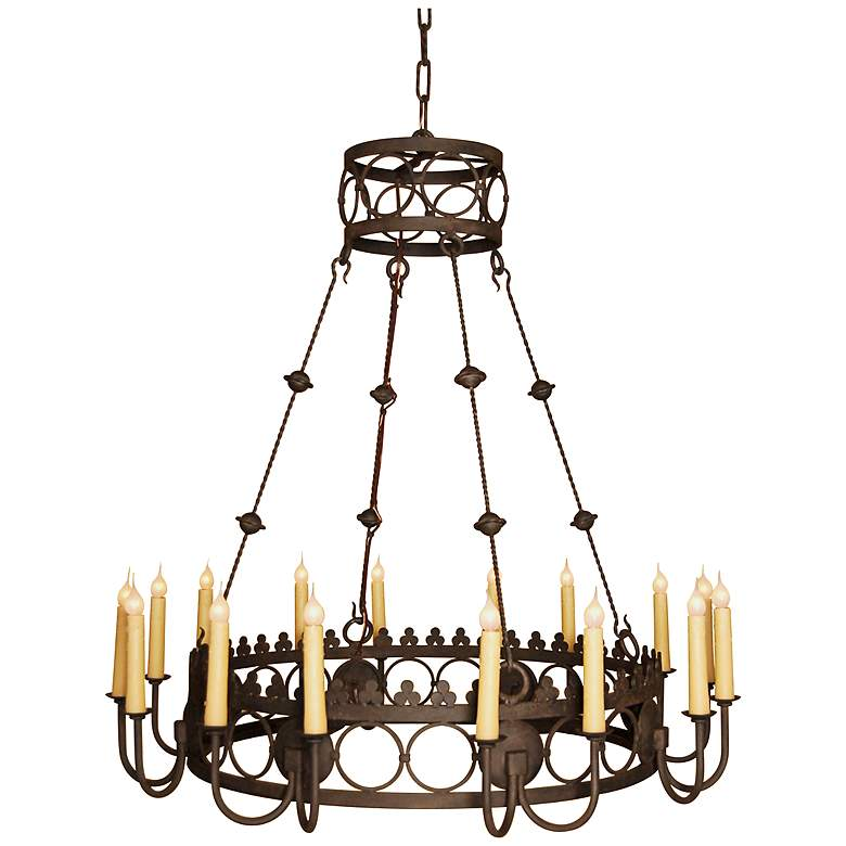 "Laura Lee Bergamo 42"" Wide 16-Light Large Candle Chandelier"