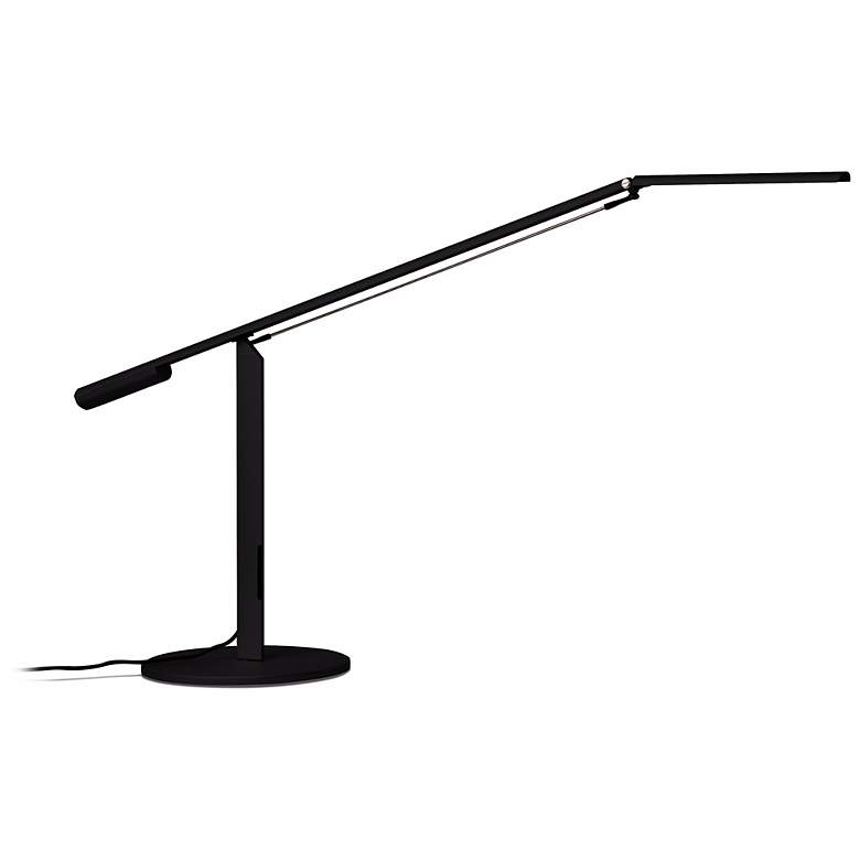 Gen 3 Equo Warm Light LED Black Desk Lamp with Touch Dimmer