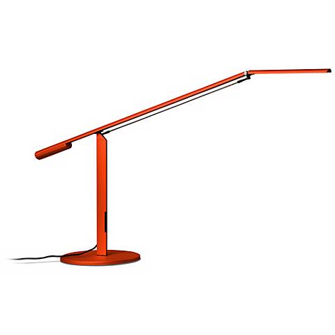 Gen 3 Equo Daylight LED Orange Desk Lamp with Touch Dimmer
