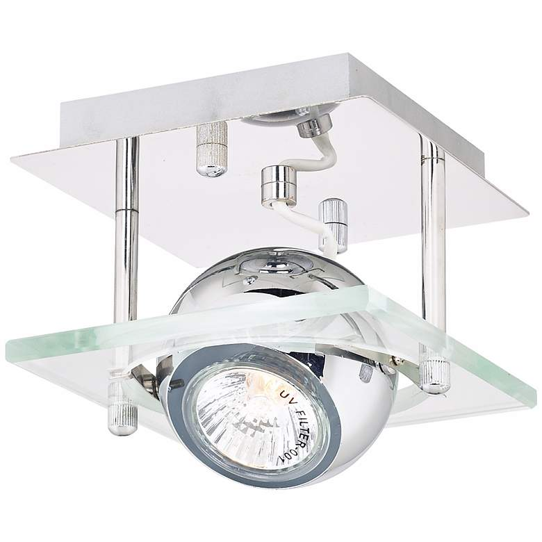 """Pro Track® Orb Chrome and Glass 5"""" Wide Ceiling Light"""