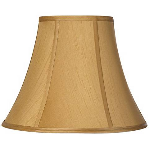 Coppery Gold Bell Lamp Shade 7x14x10.5 (Spider)