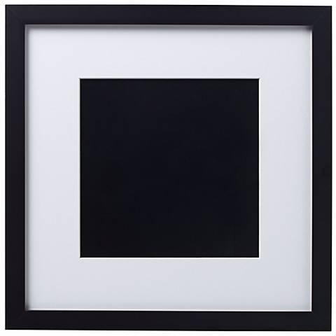 14 X 14 Black Finish With White Matting Wall Art Frame R6083