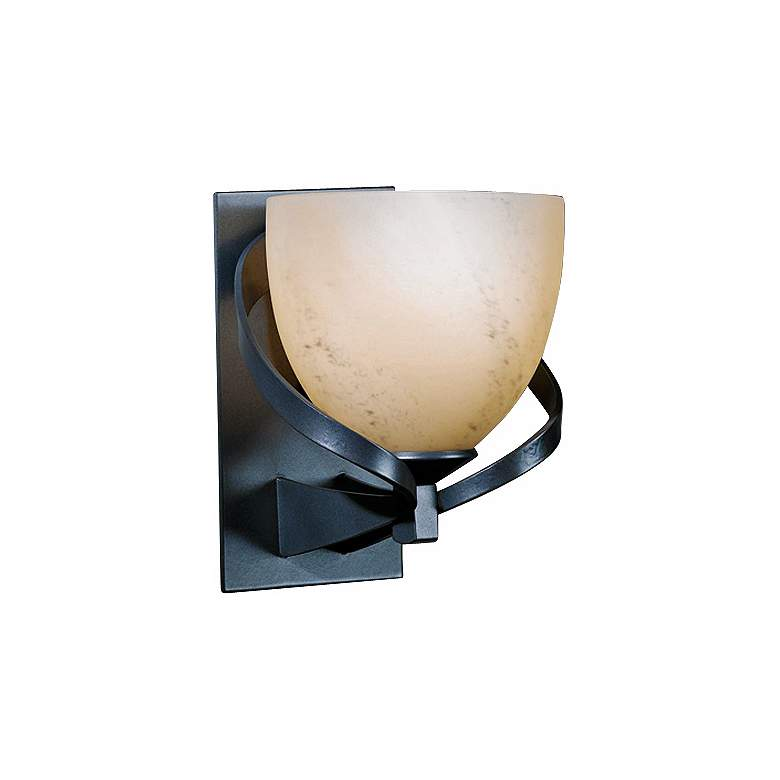 """Hubbardton Forge Ribbon Stone Glass 8"""" High Wall Sconce"""