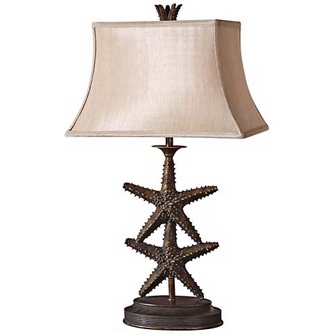 Uttermost Antiqued Gold Starfish Table Lamp