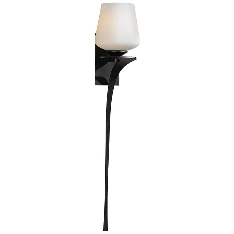 "Hubbardton Forge Antasia Frost Left 26 1/2"" High Wall Sconce"