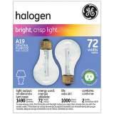 GE 72 Watt 2-Pack a-19 Clear Halogen Light Bulbs