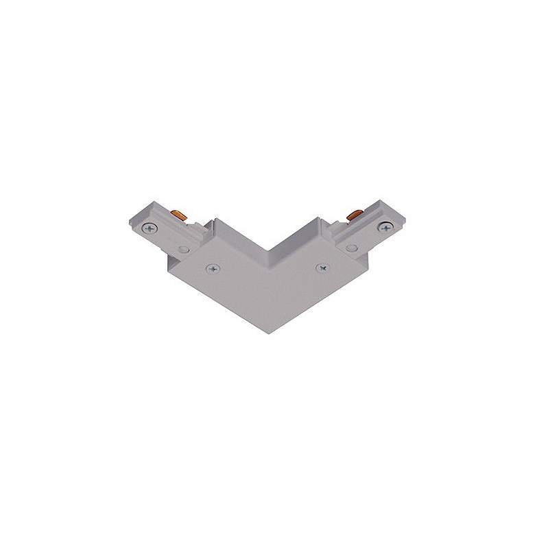 Lightolier Single Circuit Silver L-Connector Track Joiner