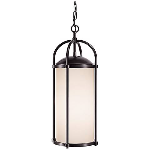 "Feiss Dakota Espresso 23"" High Outdoor Hanging Light"