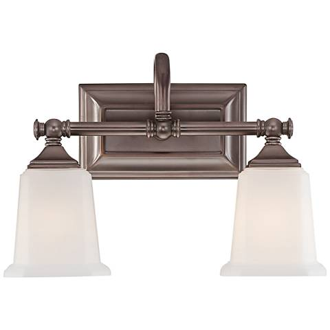 "Quoizel Nicholas 10"" High Harbor Bronze 2-Light Wall Sconce"