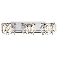 "Possini Euro Design Crystal Strand 25 3/4"" Wide Bath Light"