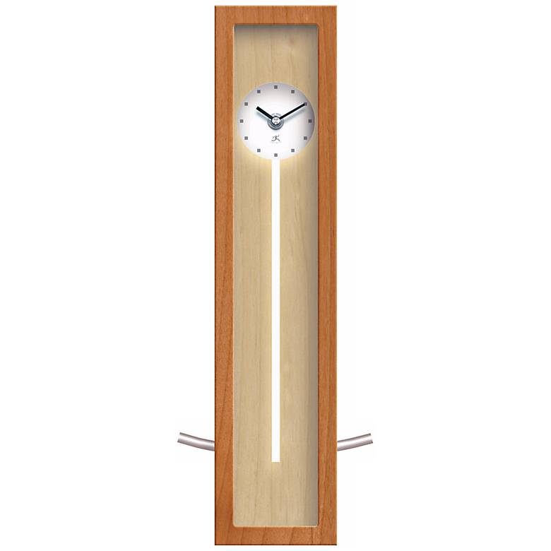 """High Rise Natural 16 1/2"""" High Wall or Table Clock"""