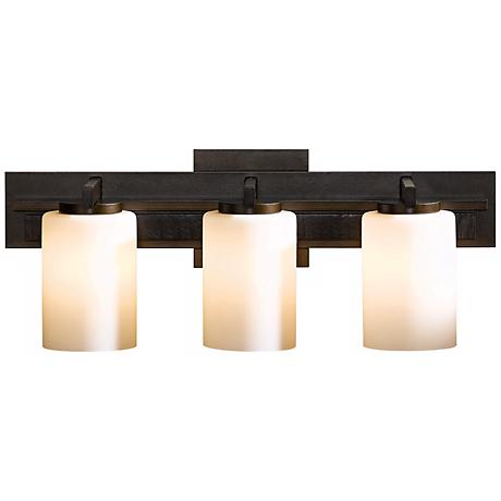 hubbardton forge bathroom lighting hubbardton forge ondrian opal 3 light bath wall sconce 18781