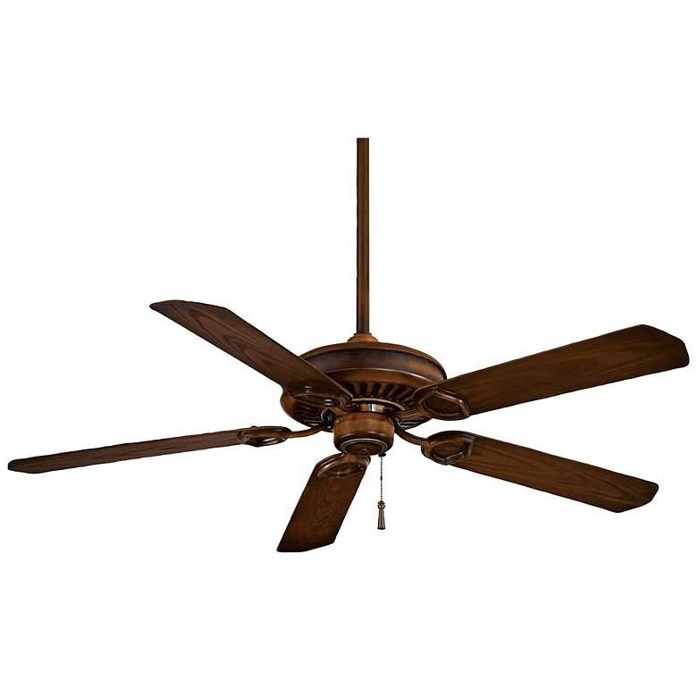 """54"""" Minka Aire Walnut Sundowner Outdoor Ceiling Fan"""