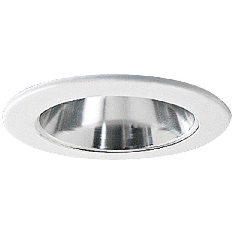 """Nora 4"""" Wide Chrome and White Adjustable Recessed Light Trim"""