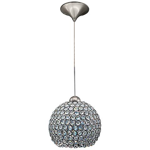"Roxy 8 1/4""W Clear Crystal Quick Connect LED Mini Pendant"