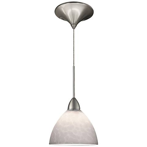"Faberge 5 1/2""W White Glass Quick Connect LED Mini Pendant"