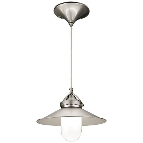 "WAC Freeport 9 1/2"" Wide LED Brushed Nickel Mini Pendant"