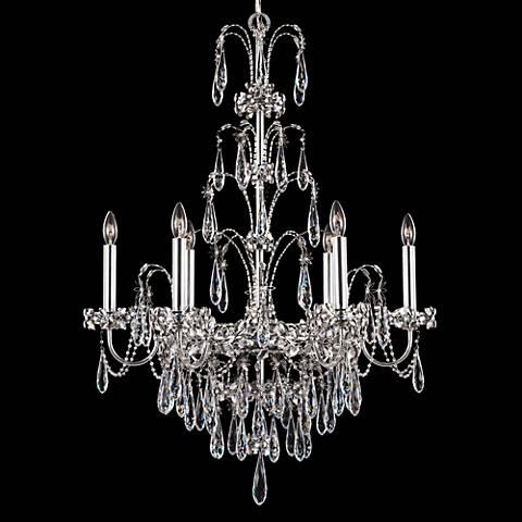 "Schonbek Ekaterina 24"" Wide Silver Crystal Chandelier"