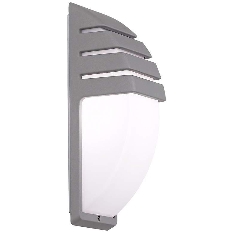 """Matte Silver 13 3/4"""" High Outdoor Wall Light"""