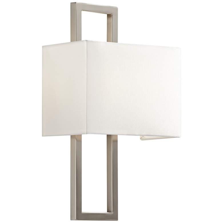 "Possini Euro Nickel 15 1/2"" High Rectangular Wall Sconce"