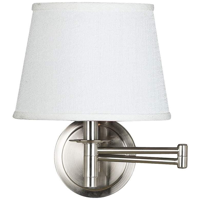 Kenroy Sheppard Brushed Steel Plug-In Swing Arm Wall Lamp