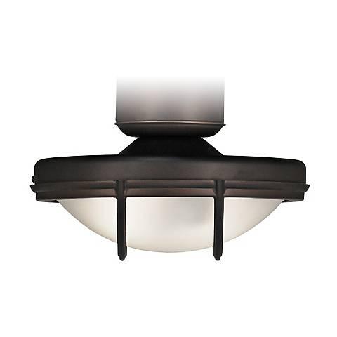 Wet Location Oil Rubbed Bronze Ceiling Fan Light Kit