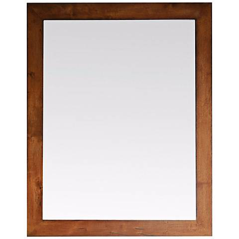 "Legacy Golden Burl 36"" High Wall Mirror"
