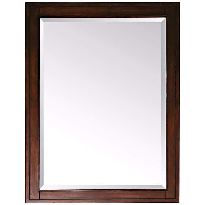 "Madison Light Espresso 28"" x 32"" Rectangular Mirror"