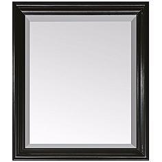 "Avanity Milano Black 30"" x 26"" Rectangular Wall Mirror"