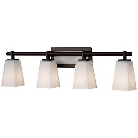 Feiss Clayton Wide Bathroom Light Fixture R Lamps Plus - Lamps plus bathroom lights