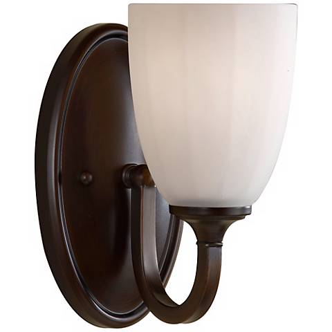 "Feiss Perry 8 3/4"" High Heritage Bronze Wall Sconce"