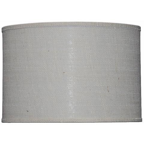 Off-White Burlap Drum Shade 16x16x13 (Spider)
