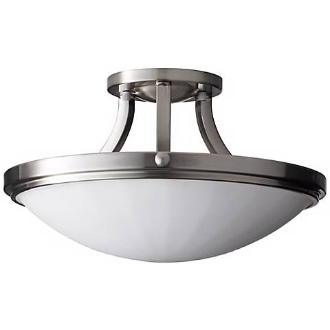 """Feiss Perry Steel 15 3/4"""" Wide Ceiling Light Fixture"""