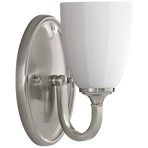 "Feiss Perry 8 3/4"" High Brushed Steel Wall Sconce"