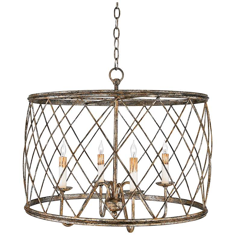 """Dury 23"""" Wide Century Silver Pendant Chandelier by Quoizel"""