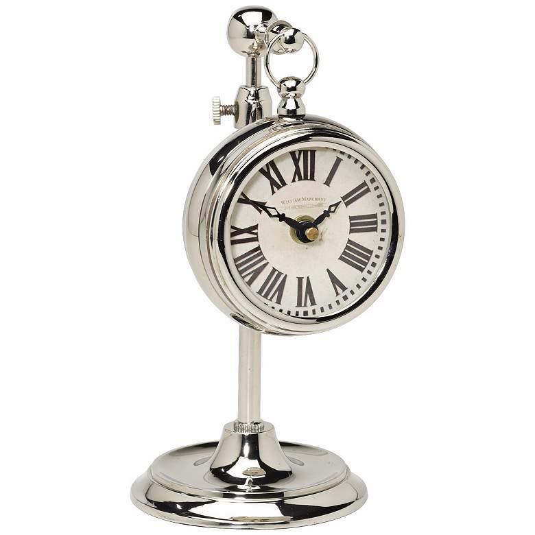 Uttermost Marchant Cream Pocket Watch Desk Clock