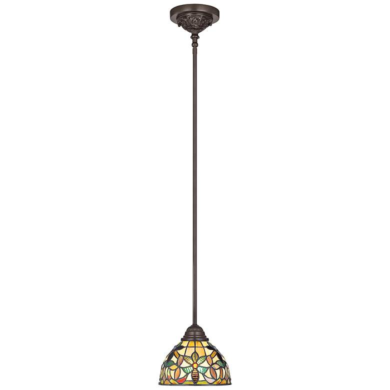 Quoizel Kami Tiffany-Style Mini Pendant Light