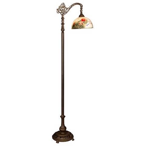 Dale Tiffany Rose Dome Downbridge Floor Lamp R9860