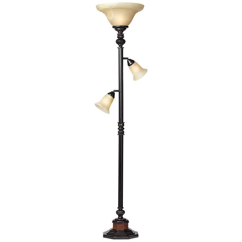 "Kathy Ireland Sonnett 72"" High 3-Light Torchiere Floor Lamp"