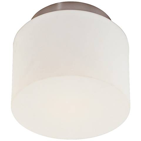 "Sonneman Drum 8"" Wide Satin Nickel Ceiling Light"
