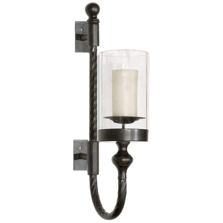 """Garvin 27"""" High Twist Candle Holder Wall Sconce"""