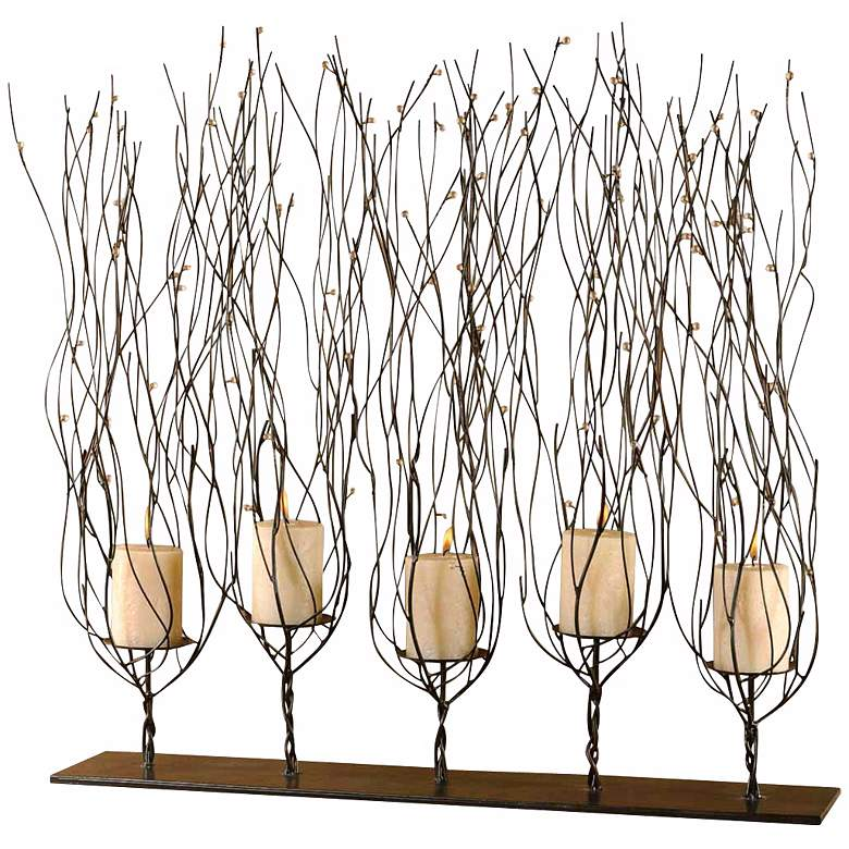"""Fedora 31"""" Wide 5 Candle Tree Branch Candle Holder"""