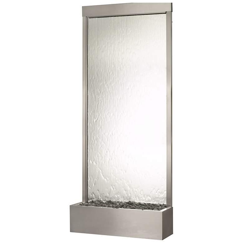 "Grande 118"" HIgh Stainless Steel-Silver Mirror Fountain"